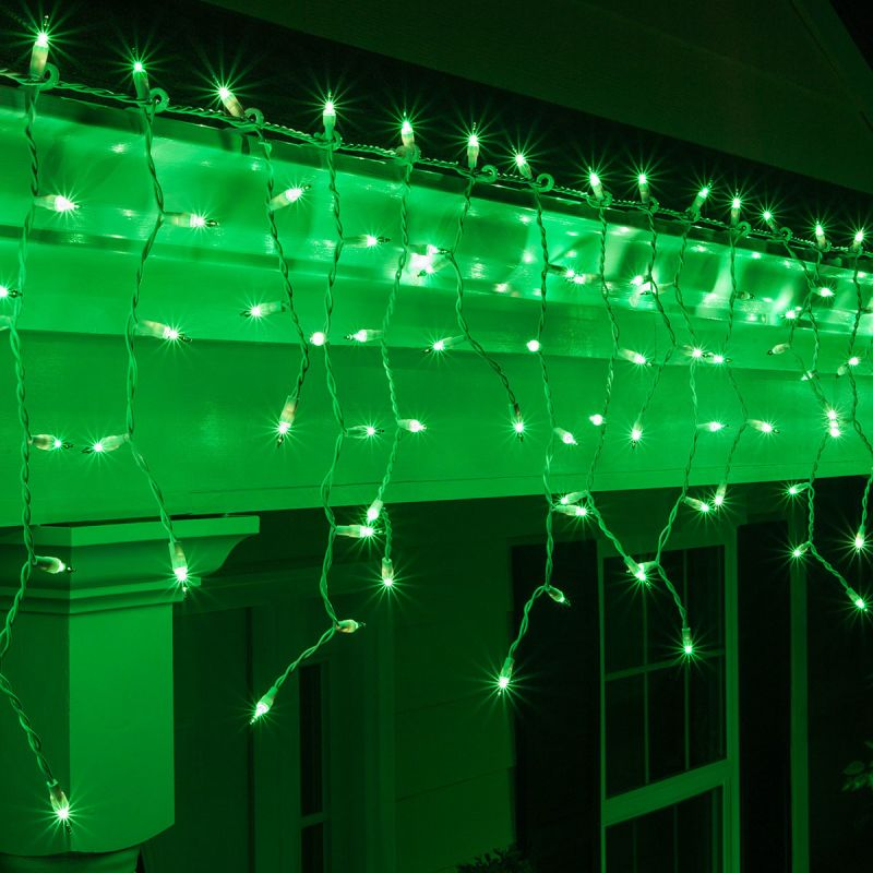 """Wintergreen Lighting 15241 Mini Icicle Lights with 4"""" Spacing and"""
