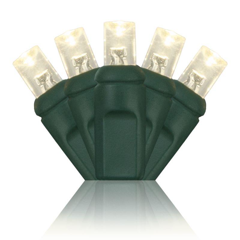 Wintergreen Lighting 69176 70 5mm LED Holiday Lights on Premium Green