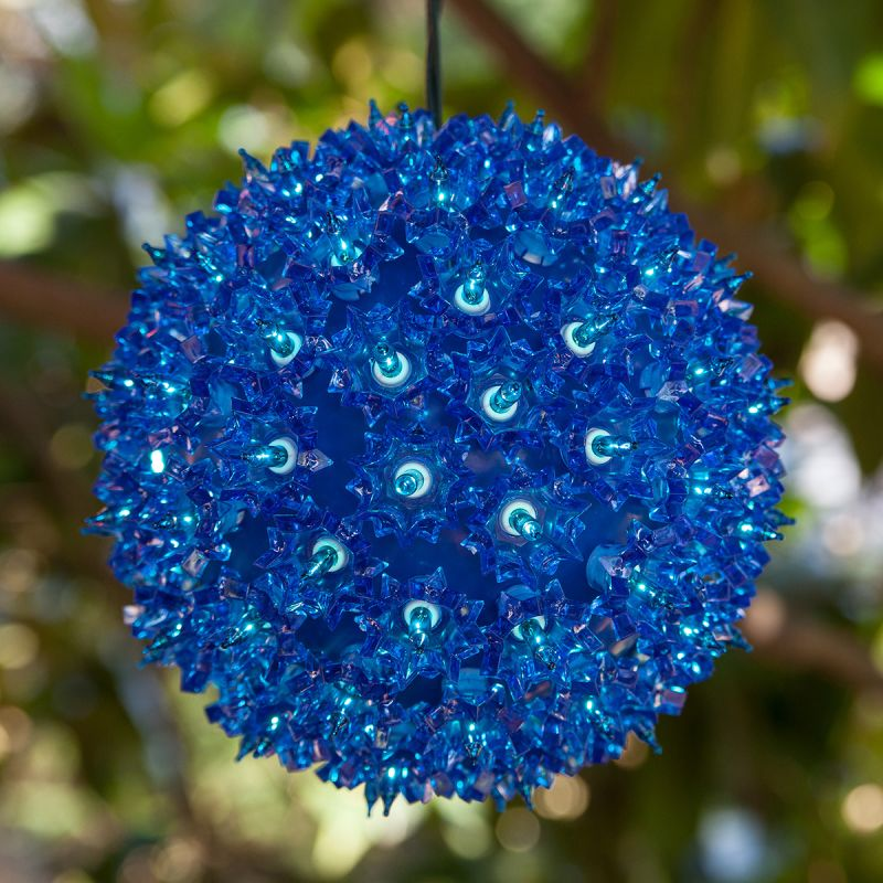 "Wintergreen Lighting 70177 10"" Mega Starlight Sphere with 150 Blue"
