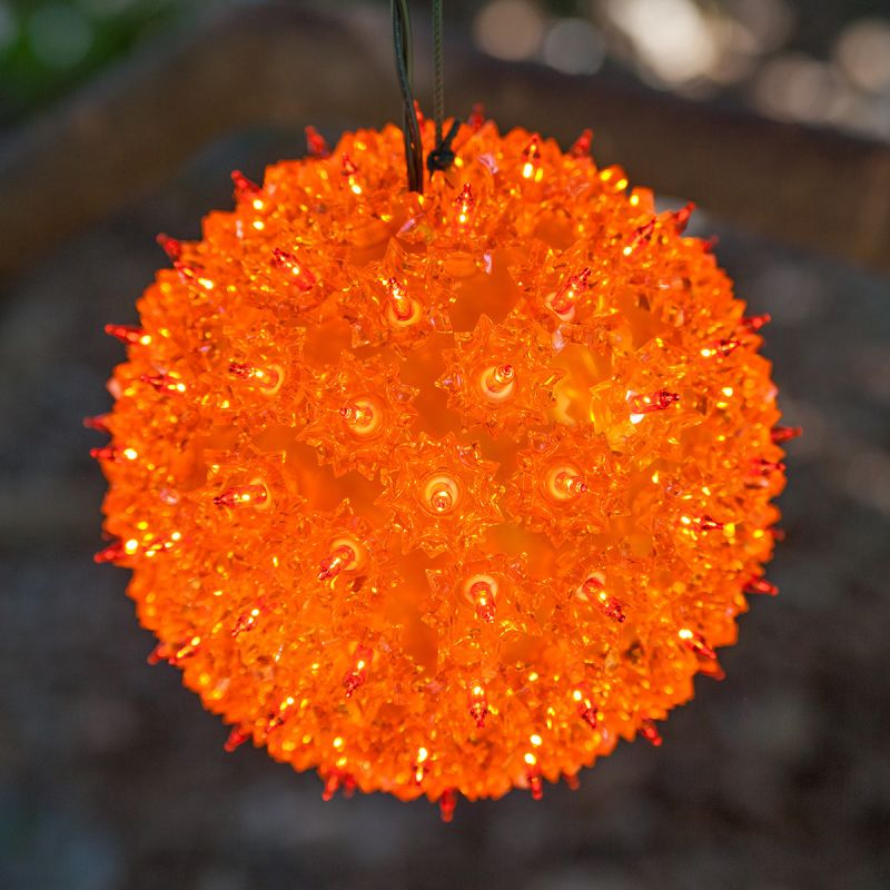 "Wintergreen Lighting 70189 7.5"" Starlight Sphere with 100 Amber Lights"