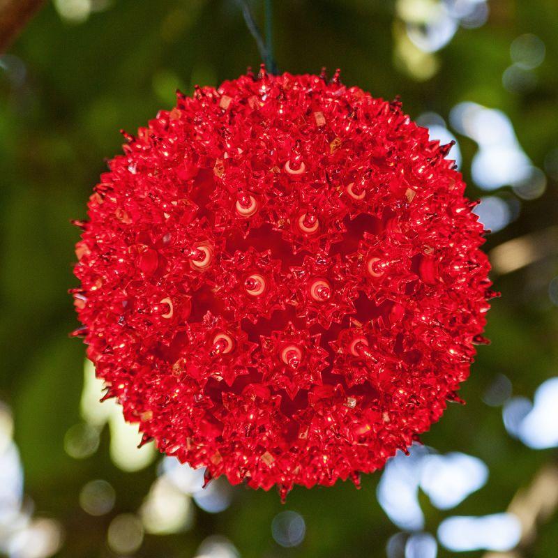 "Wintergreen Lighting 70195 7.5"" Starlight Sphere with 100 Red Lights"