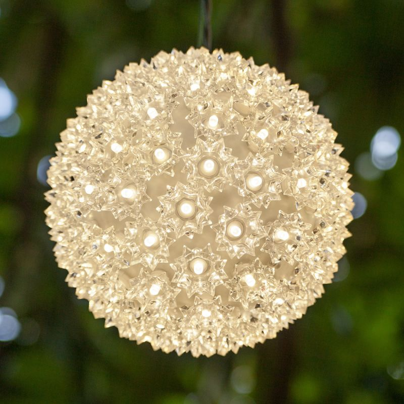 "Wintergreen Lighting 70265 7.5"" LED Starlight Sphere with 100 Warm"