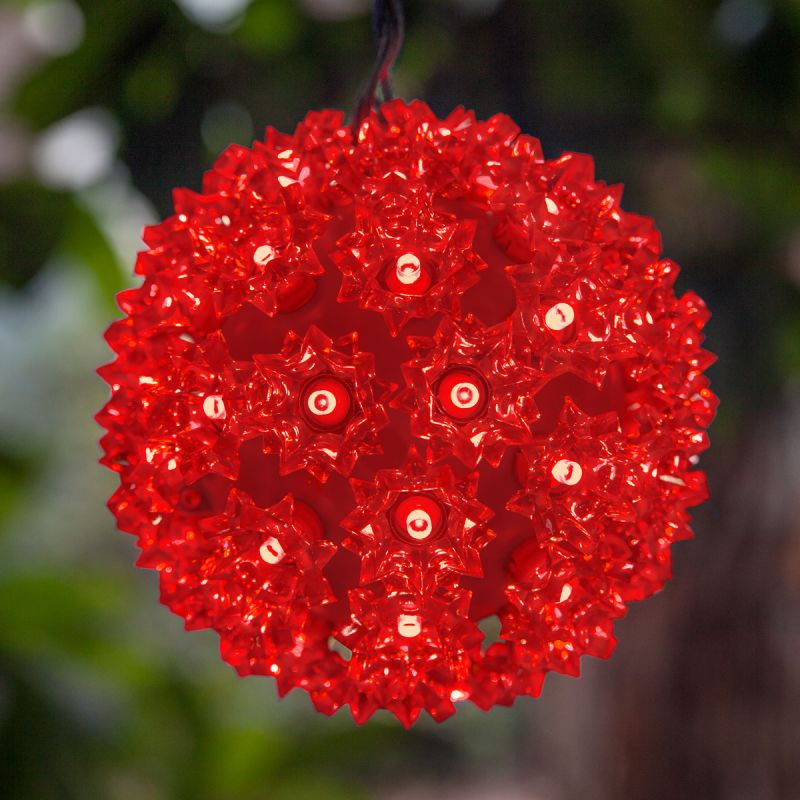 "Wintergreen Lighting 70283 6"" LED Starlight Sphere with 50 Red Lights"