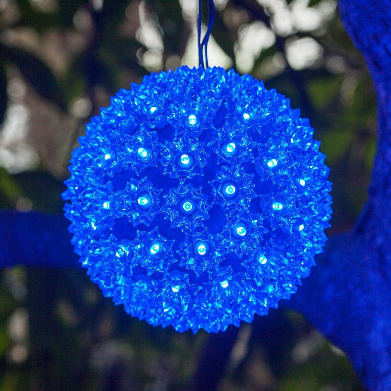 "Wintergreen Lighting 70287 6"" LED Starlight Sphere with 50 Blue Lights"
