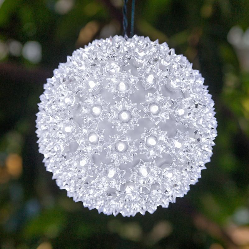 """Wintergreen Lighting 70291 7.5"""" LED Starlight Sphere with 100 Cool"""