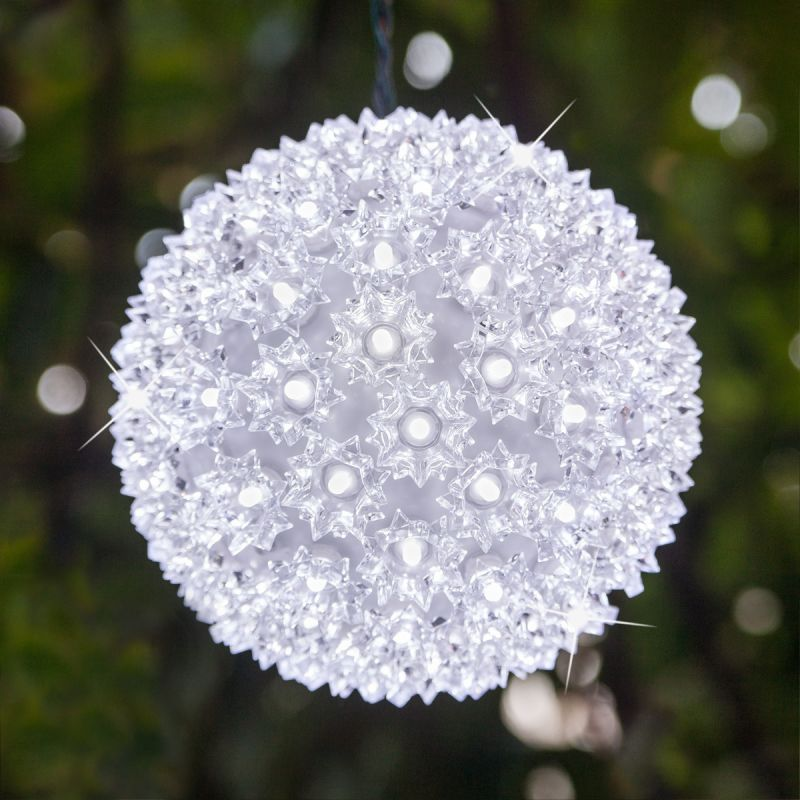 """Wintergreen Lighting 70336 7.5"""" LED Starlight Sphere with 100 Cool"""
