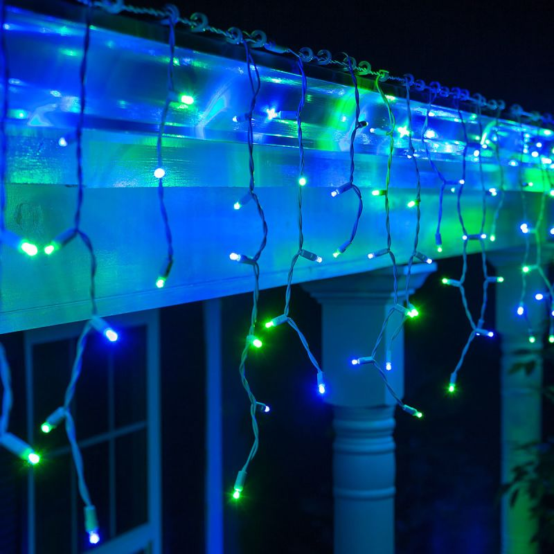Wintergreen Lighting 72028 9´ Long Outdoor LED 5mm Icicle Lights with