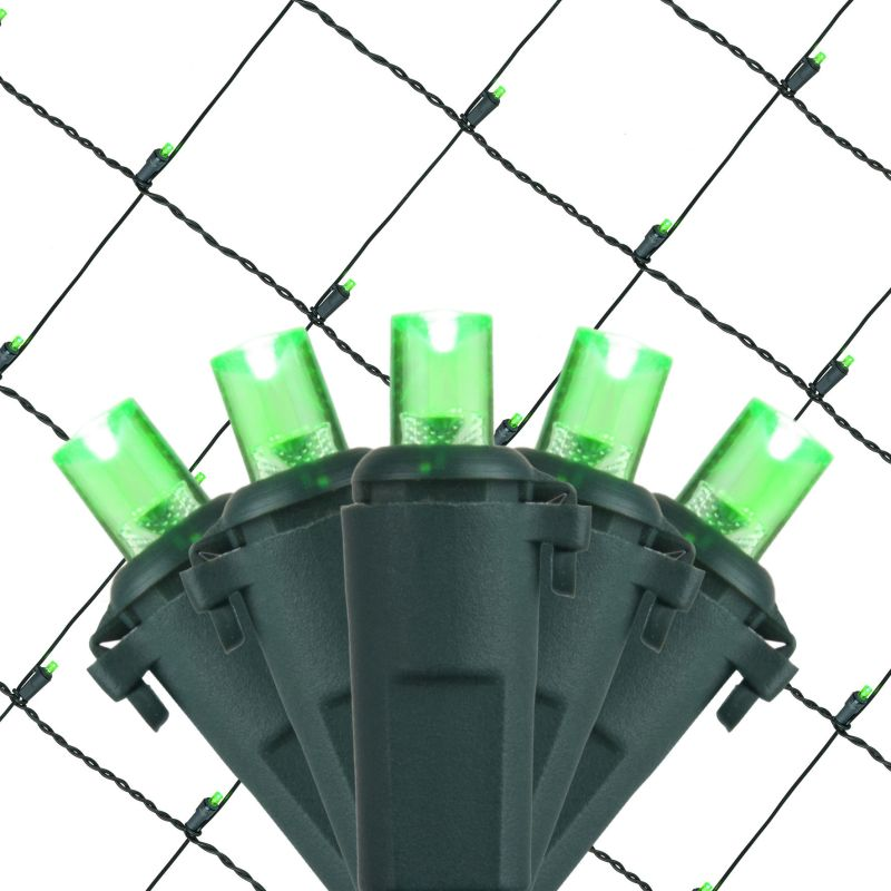 Wintergreen Lighting 72508 5mm 4' x 6' LED Net Holiday Lights with 100