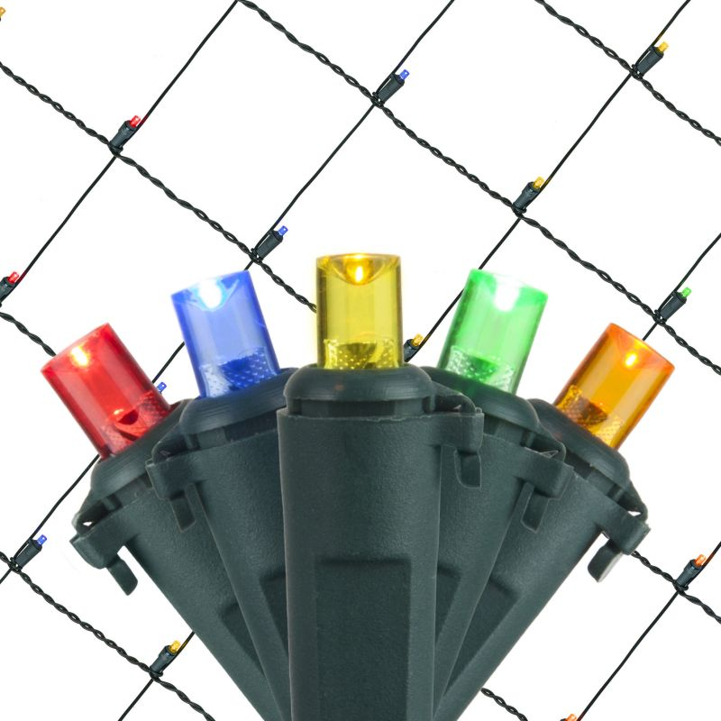 Wintergreen Lighting 72514 5mm 4' x 6' LED Net Holiday Lights with 100