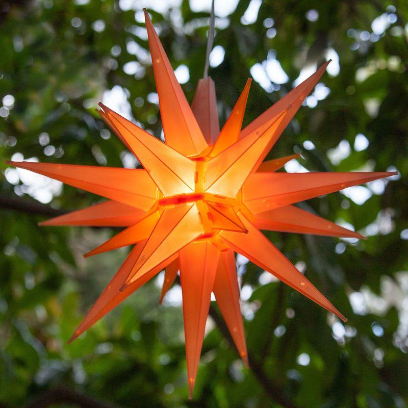 "Wintergreen Lighting 72715 Indoor / Outdoor LED Moravian Star with 60"""
