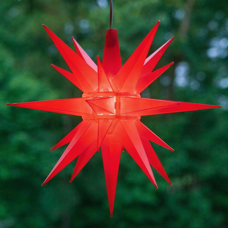 "Wintergreen Lighting 72716 Indoor / Outdoor LED Moravian Star with 60"""