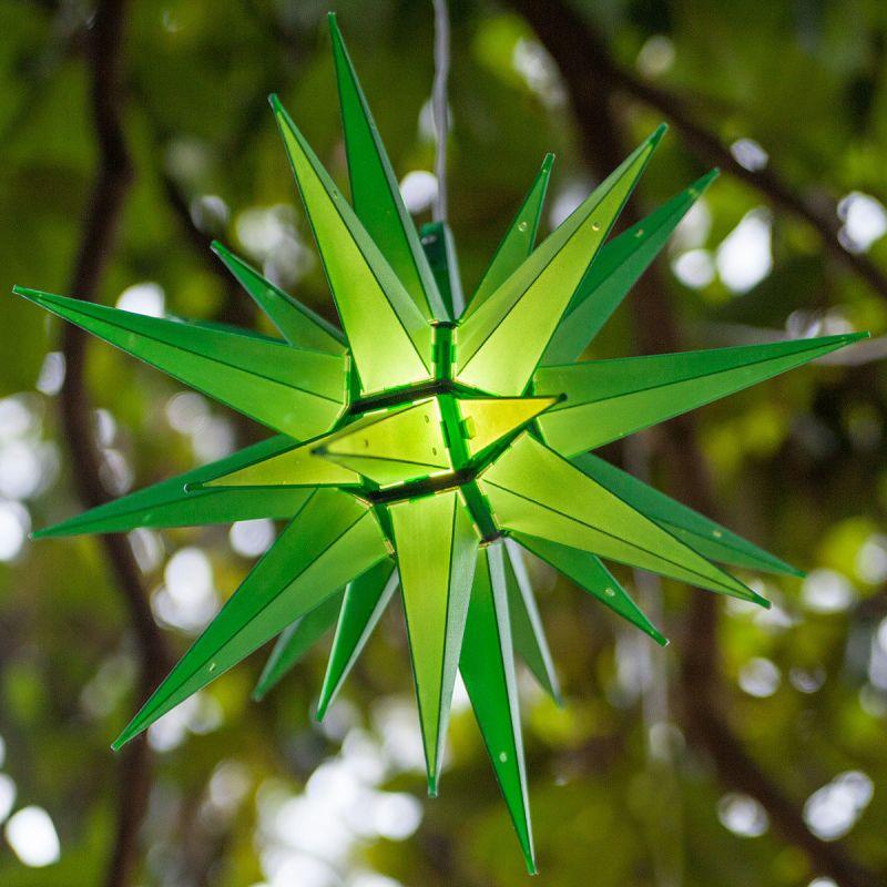 "Wintergreen Lighting 72717 Indoor / Outdoor LED Moravian Star with 60"""