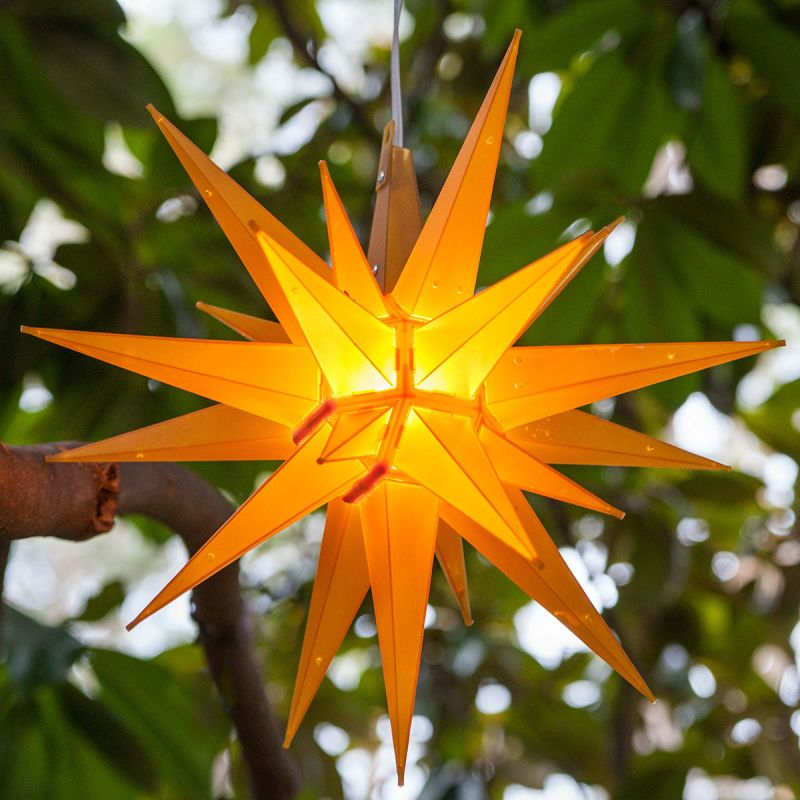 Wintergreen Lighting 72727 Indoor / Outdoor LED Moravian Star with 60""