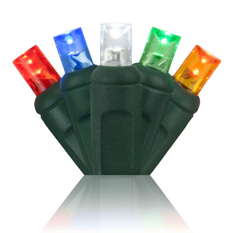 Wintergreen Lighting 50586 70 Bulb 5mm Multicolor LED Christmas Lights