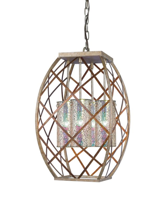 Woodbridge Lighting 12620VIN-IRI 4 Light Foyer Pendant with Iridescent