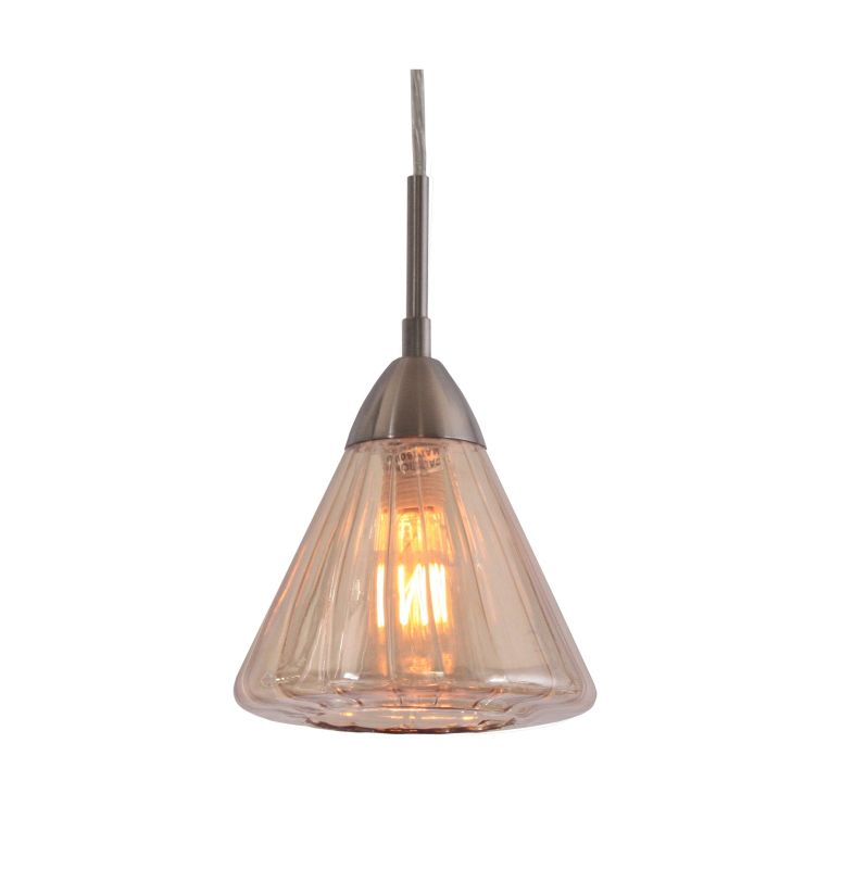 Woodbridge Lighting 13223STN-C60633 1 Light Mini Pendant with Plated