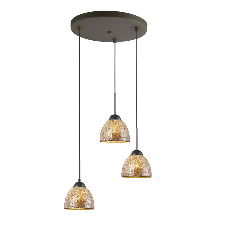 Woodbridge Lighting 13624MEB-M21MIR 3 Light Pendant Cluster with