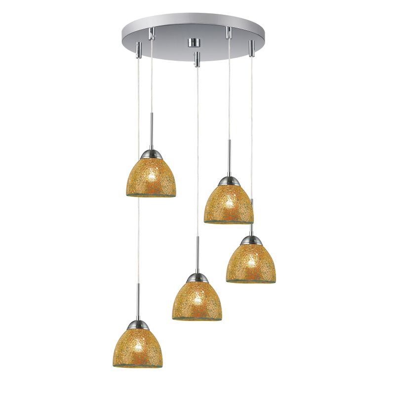 Woodbridge Lighting 13625STN-M21AMB 5 Light Pendant Cluster with Satin Sale $557.70 ITEM: bci1978741 ID#:13625STN-M21AMB :