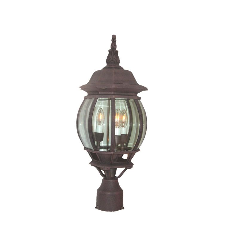 Woodbridge Lighting 61006-RTP 1 Light Post Light with Clear Glass from