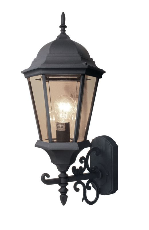 Woodbridge Lighting 61014-BKP 1 Light Outdoor Wall Sconce with Clear Sale $63.12 ITEM: bci1978820 ID#:61014-BKP :