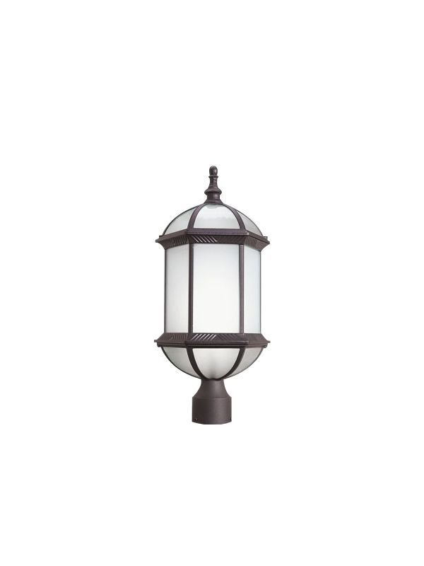 Woodbridge Lighting 61036WL-RTP 1 Light Post Light with Frosted Glass
