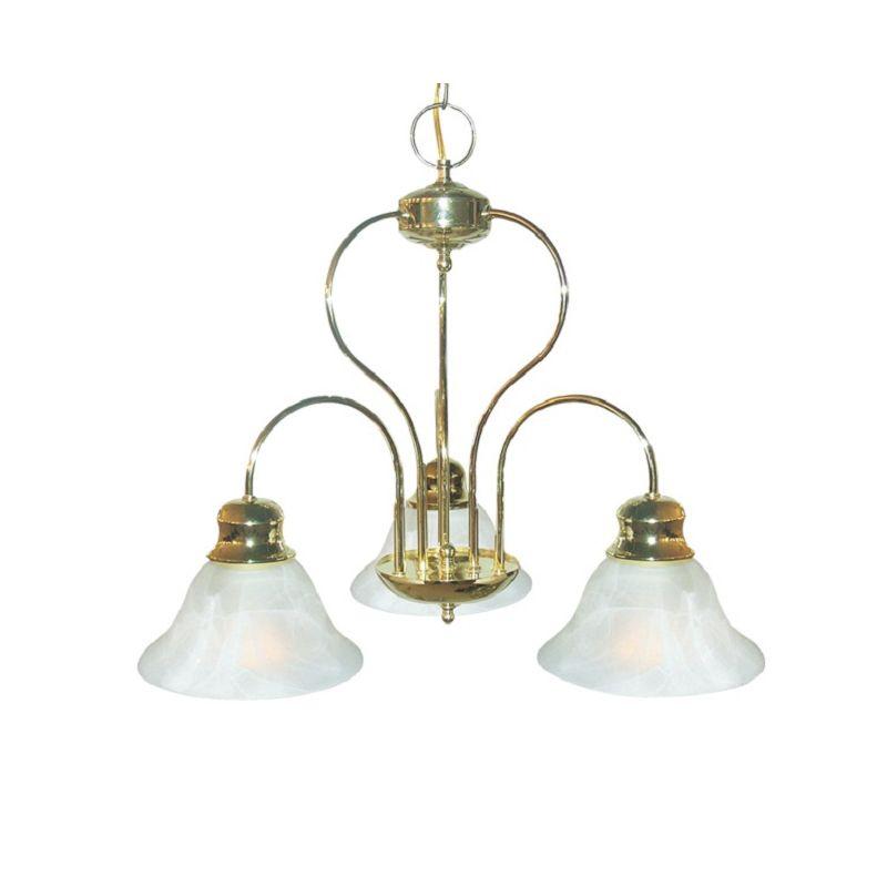 Woodbridge Lighting 10008 Basic 3 Light Chandelier Polished Brass