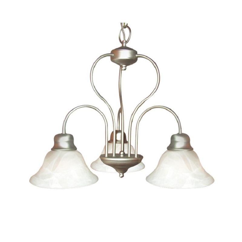 Woodbridge Lighting 10008 Basic 3 Light Chandelier Satin Nickel Indoor