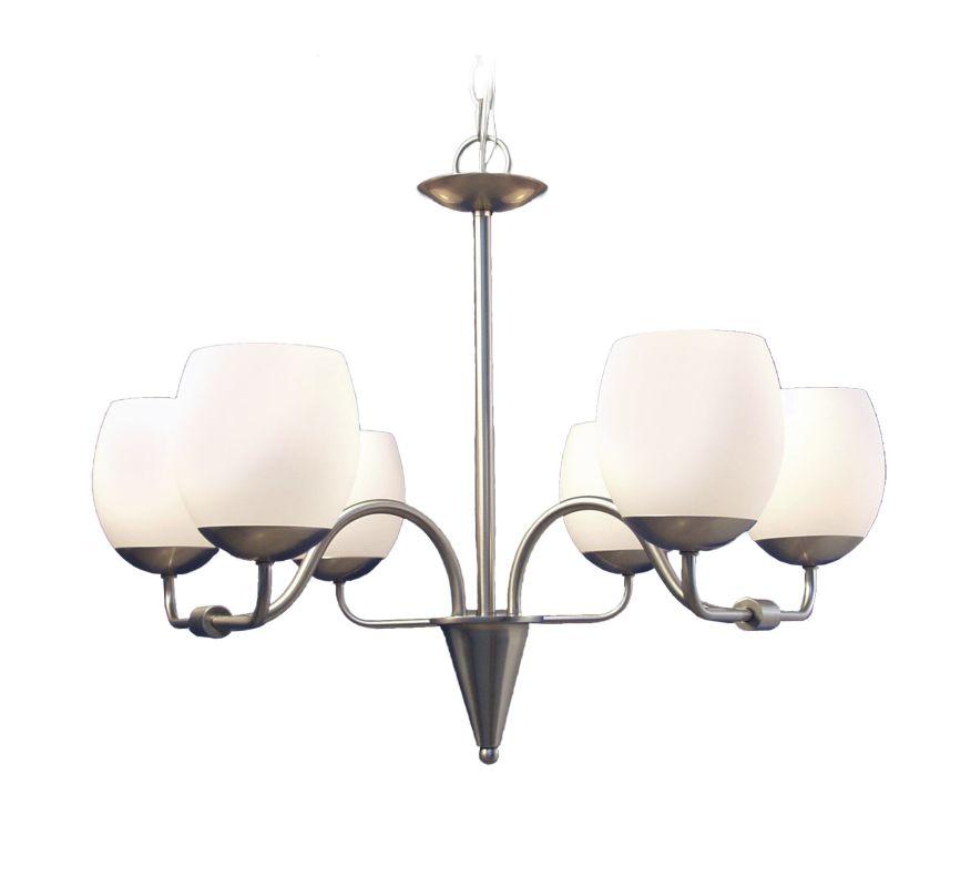Woodbridge Lighting 12001 Soho 6 Light Satin Nickel Chandelier Satin