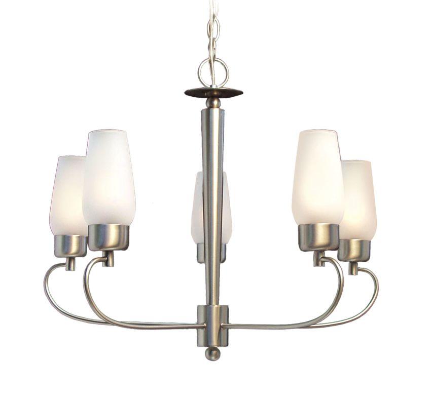 Woodbridge Lighting 12014 Soho 5 Light Satin Nickel Chandelier Satin