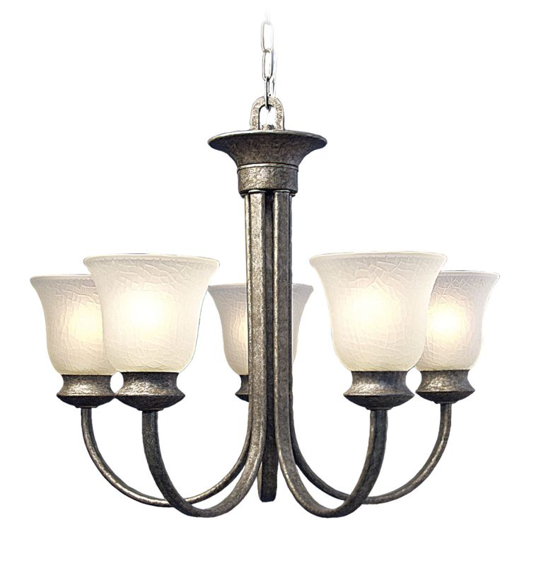 Woodbridge Lighting 12024 Dresden 5 Light Chandelier Greystone Indoor