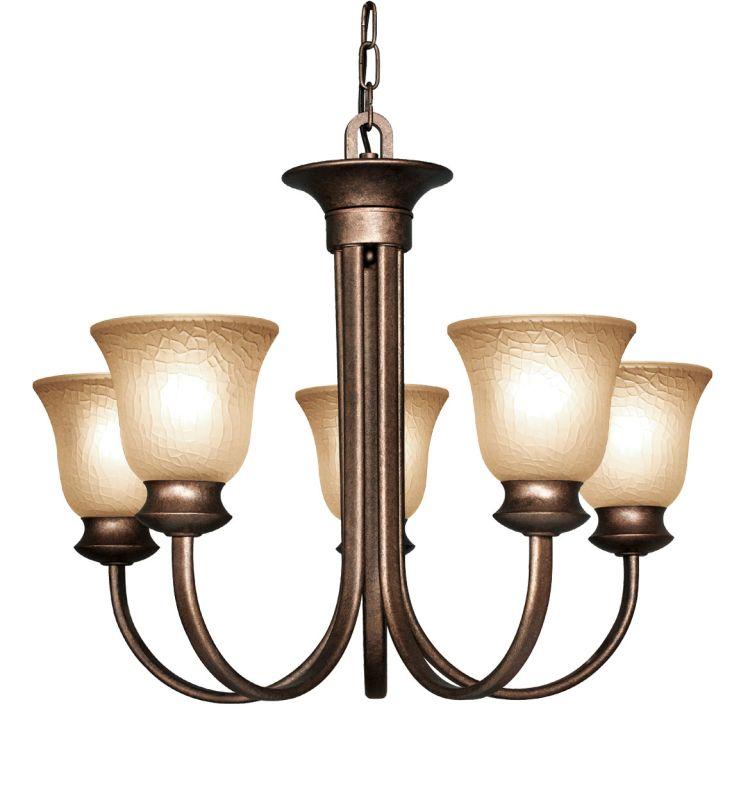 Woodbridge Lighting 12024 Dresden 5 Light Chandelier Marbled Bronze