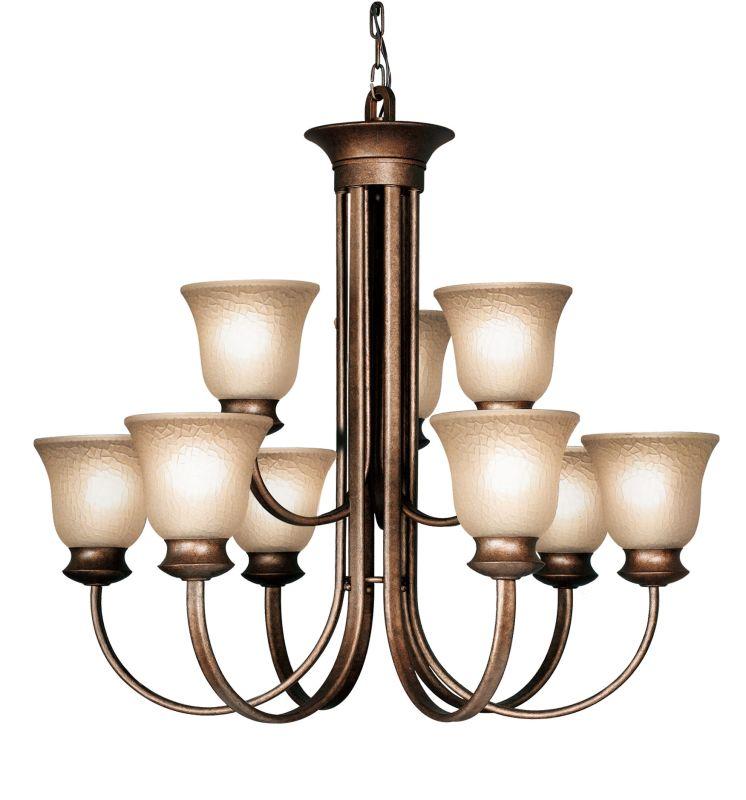 Woodbridge Lighting 12025 Dresden 9 Light Marbled Bronze Chandelier