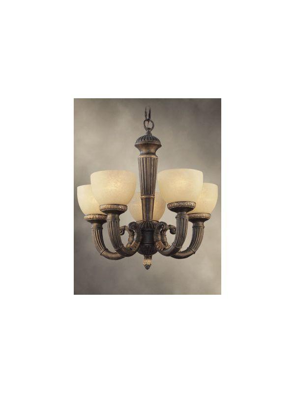 Woodbridge Lighting 12039-TOR Rosedale 5 Light 1 Tier Chandelier
