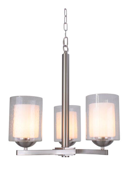 Woodbridge Lighting 12185 Cosmo 3 Light Chandelier Satin Nickel Indoor