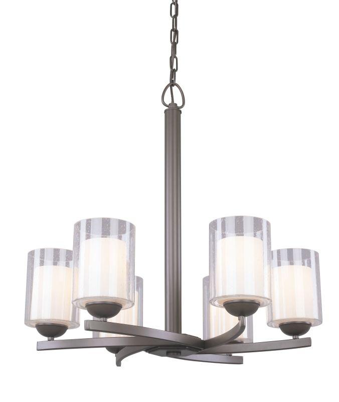 Woodbridge Lighting 12186 Cosmo 6 Light Chandelier Bronze Indoor