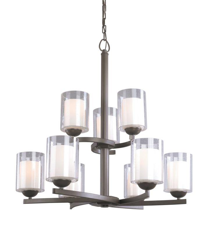 Woodbridge Lighting 12187 Cosmo 9 Light Chandelier Bronze Indoor
