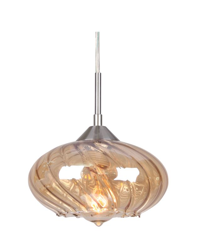 Woodbridge Lighting 12723STN-C008 Single Light Pulsar Mini Pendant