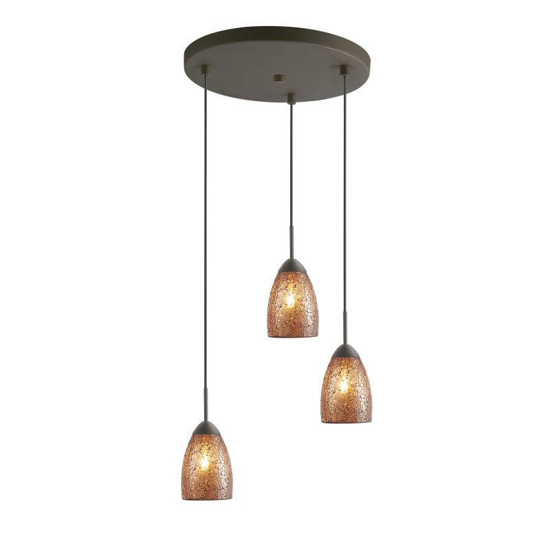Woodbridge Lighting 13224MEB-M20 3 Light Venezia Metallic Bronze Multi Sale $246.85 ITEM: bci2199809 ID#:13224MEB-M20AMB :