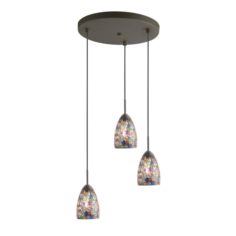 Woodbridge Lighting 13224MEB-M20 3 Light Venezia Metallic Bronze Multi Sale $260.54 ITEM: bci2199811 ID#:13224MEB-M20MTC :