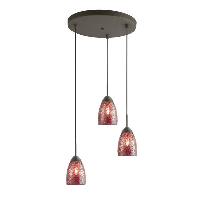 Woodbridge Lighting 13224MEB-M20 3 Light Venezia Metallic Bronze Multi
