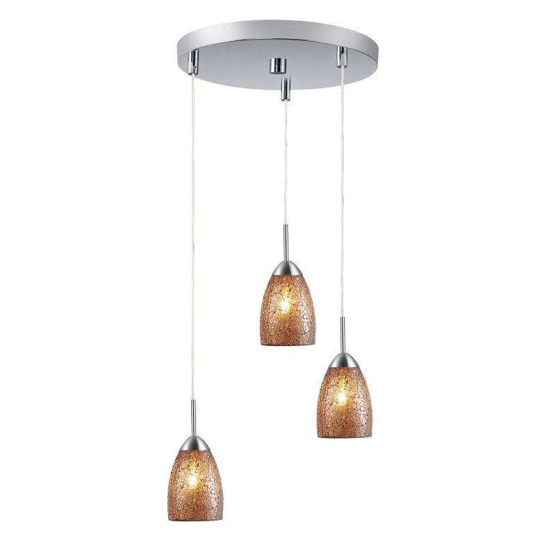 Woodbridge Lighting 13224STN-M20 3 Light Venezia Satin Nickel Multi