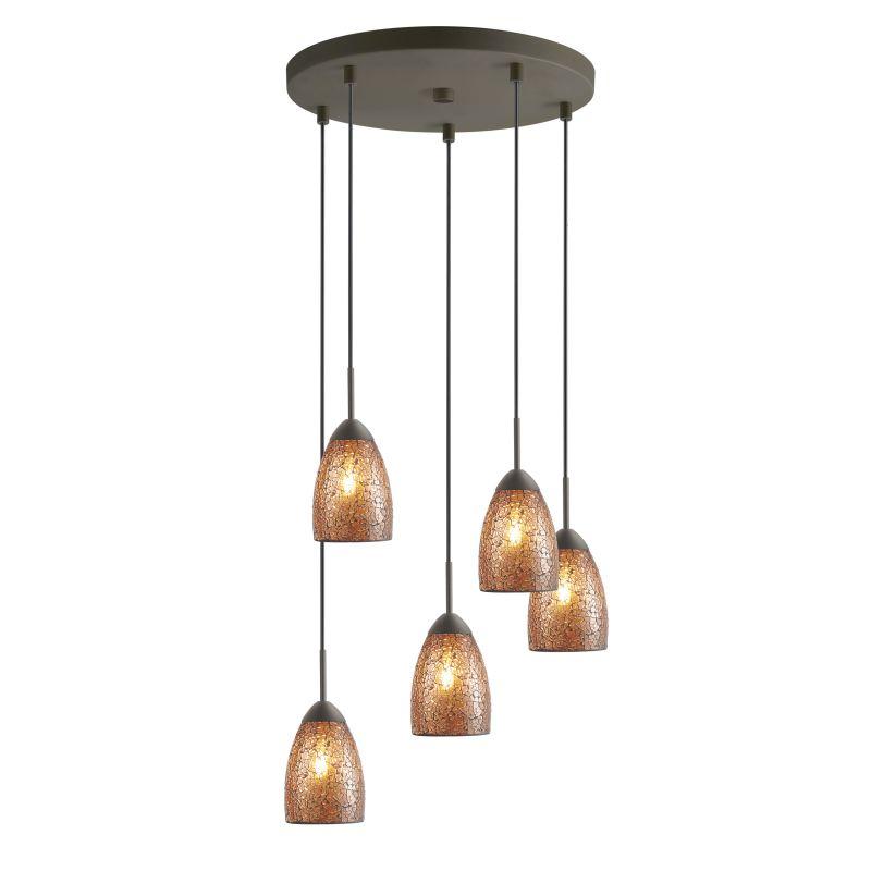 Woodbridge Lighting 13225MEB-M20 5 Light Venezia Metallic Bronze Multi Sale $411.41 ITEM: bci2199821 ID#:13225MEB-M20AMB :