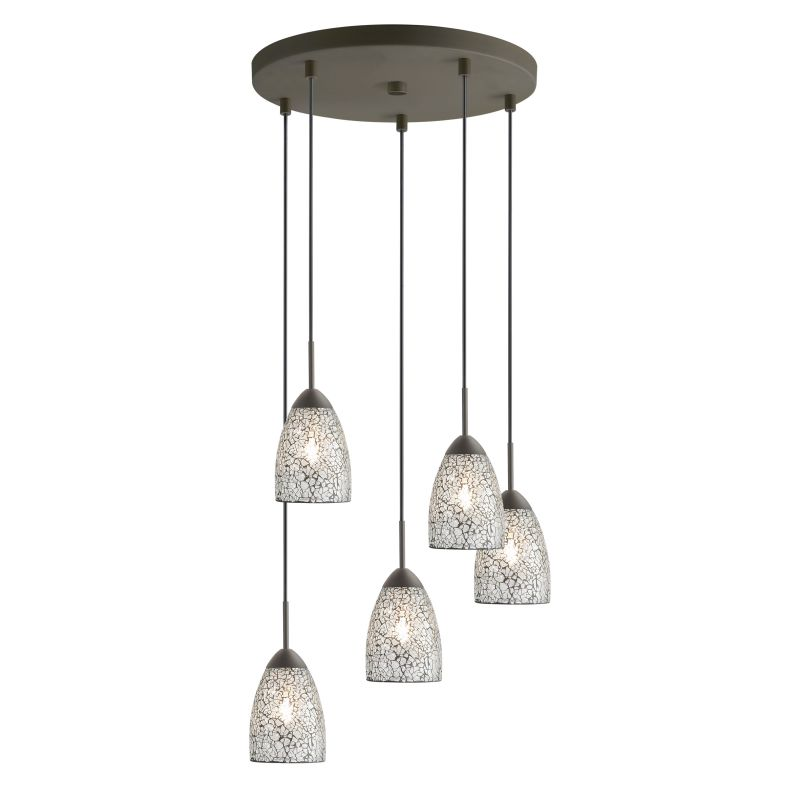 Woodbridge Lighting 13225MEB-M20 5 Light Venezia Metallic Bronze Multi