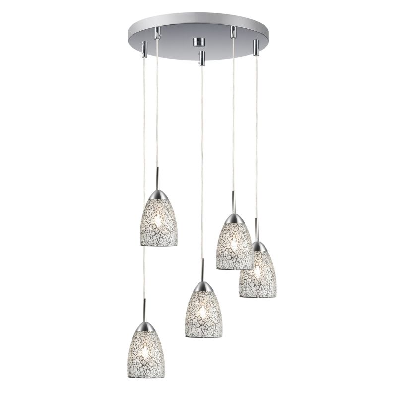 Woodbridge Lighting 13225STN-M20 5 Light Venezia Satin Nickel Multi