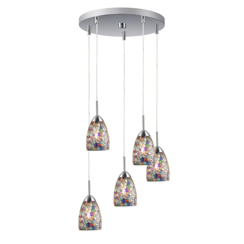 Woodbridge Lighting 13225STN-M20 5 Light Venezia Satin Nickel Multi Sale $434.26 ITEM: bci2199829 ID#:13225STN-M20MTC :