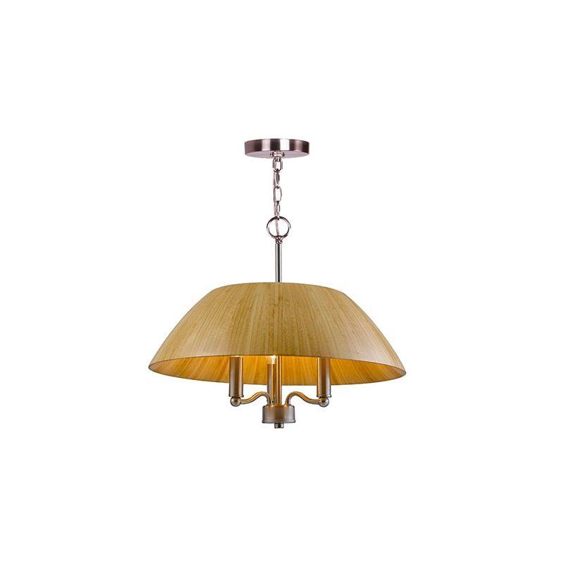 Woodbridge Lighting 14013-W2A3BB 3 Light 1 Tier Chandelier with Bamboo