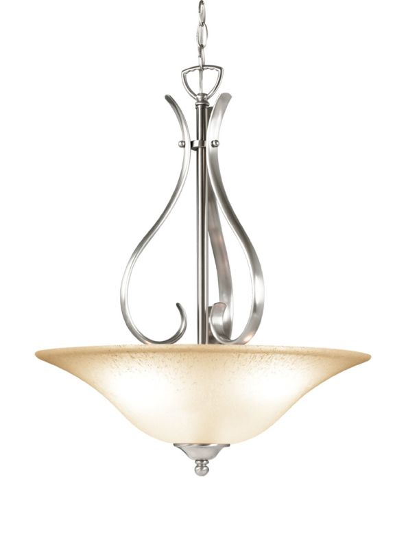 Woodbridge Lighting 21018 Beaconsfield 3 Light Satin Nickel Pendant Sale $141.74 ITEM: bci2195866 ID#:21018-STN :