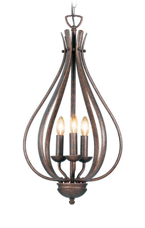 Woodbridge Lighting 24006 Beaconsfield 3 Light Pendant Marbled Bronze