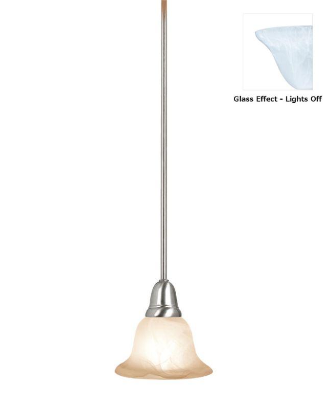 Woodbridge Lighting 28020 Hudson Glen 1 Light Pendant Satin Nickel