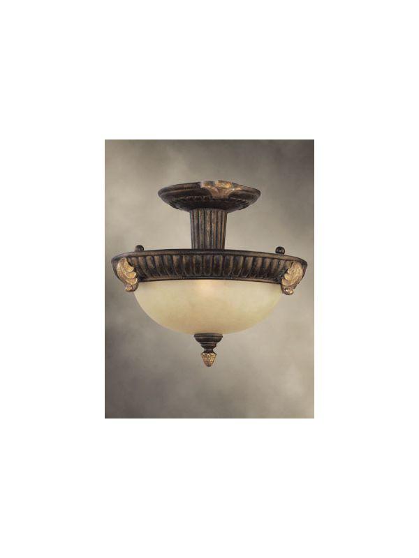 Woodbridge Lighting 38403-TOR 13.25&quote Width 2 Light Semi-Flush Ceiling